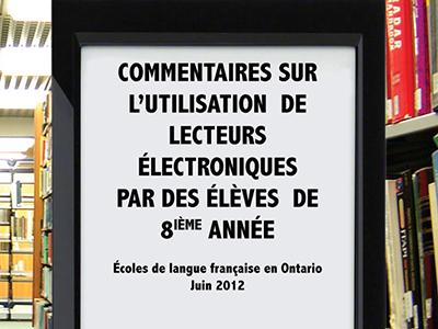 Lecteurs électroniques